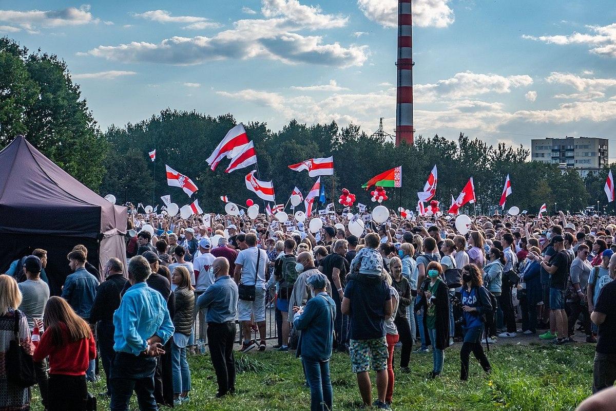 Belarus, Wahlkampf, Veranstaltung in Minsk