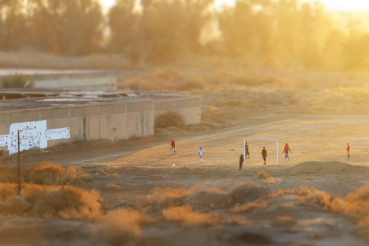 Fußballfeld im Irak, Fußball für Frieden und Verständigung zwischen den Religionen