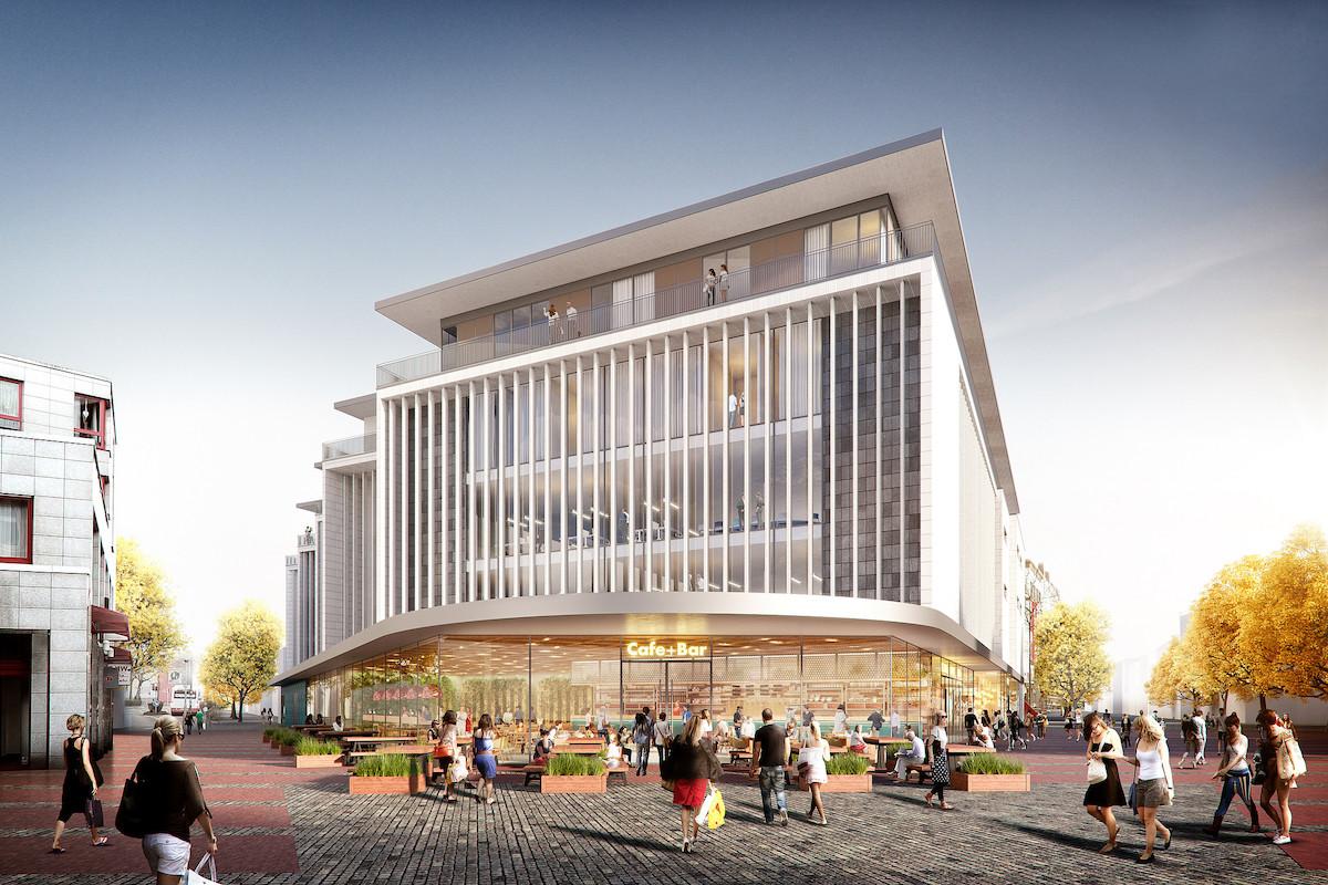 Neue Höfe Herne, Visualisierung, Kaufhäuser, Zukunft, Innenstädte