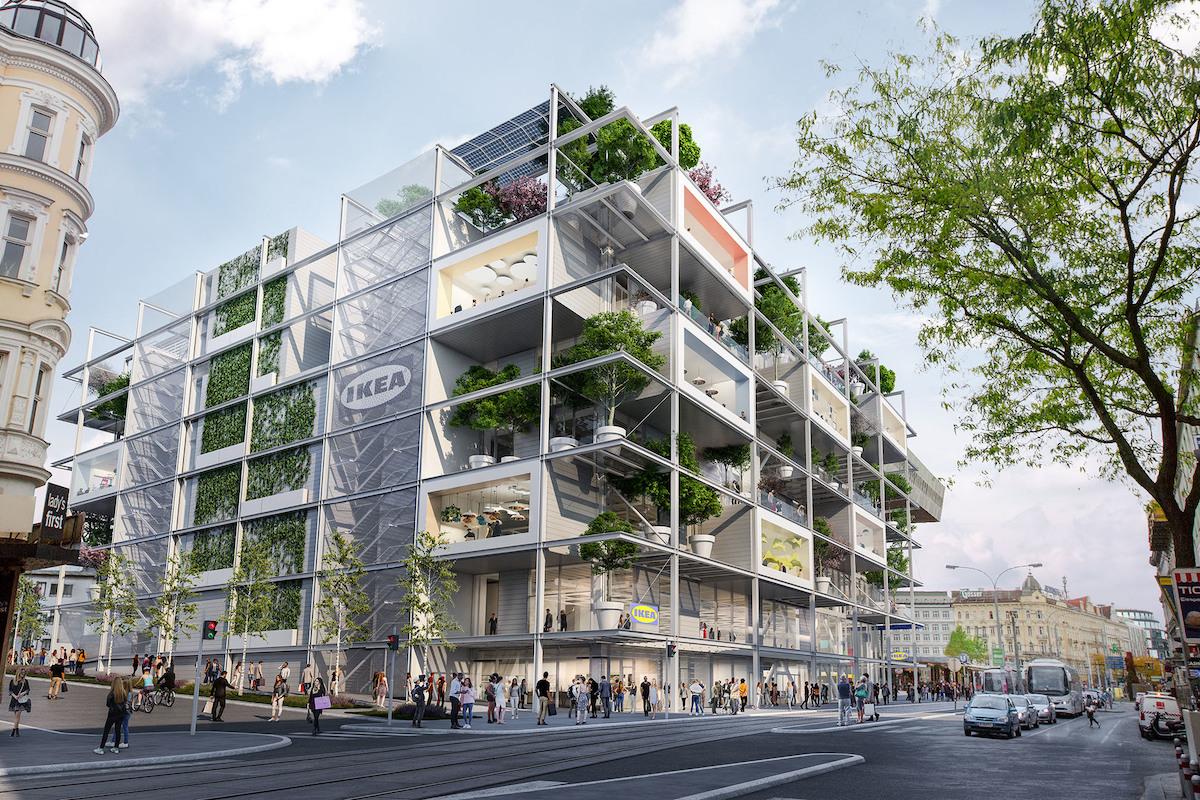 Ikea, Wien, Westbahnhof, Entwurf