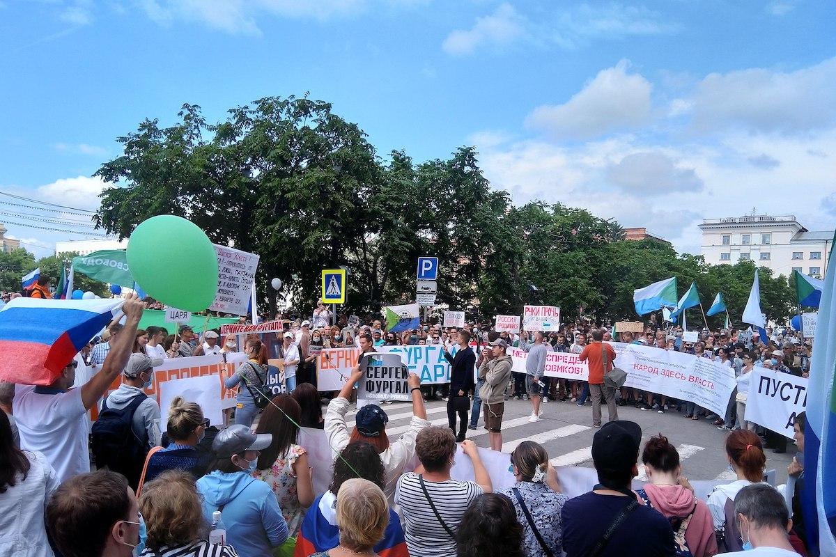 khabarovsk, russland, sibirien, proteste