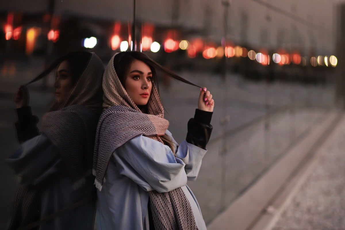 Frau in Teheran, Iran