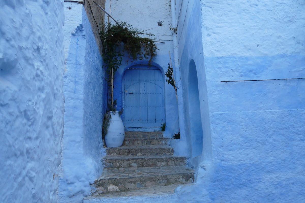 Marokko, Architektur, blaue Farbe als jüdische Tradition