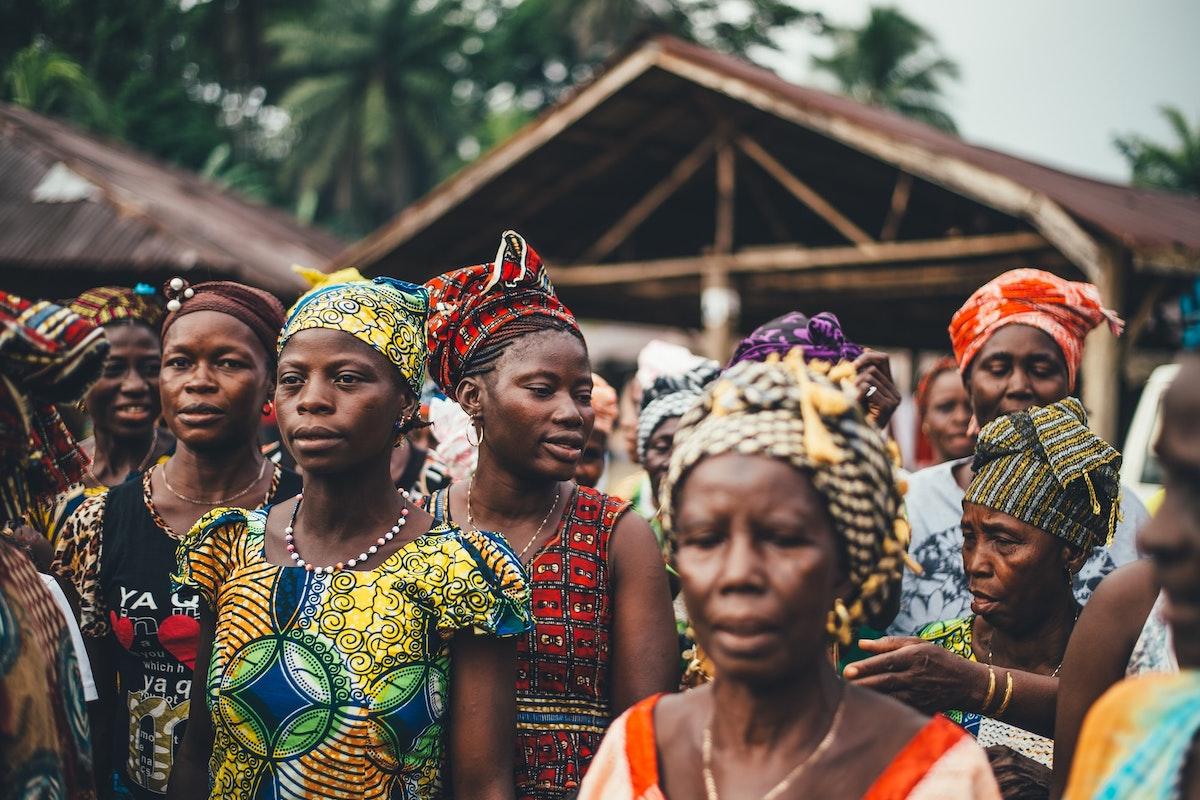 Dorf in Sierra Leone, Afrika.