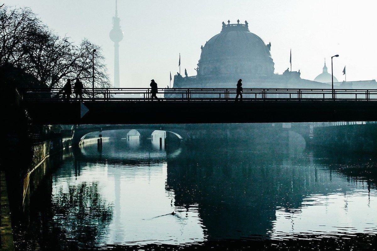 Brücke im Zentrum von Berlin