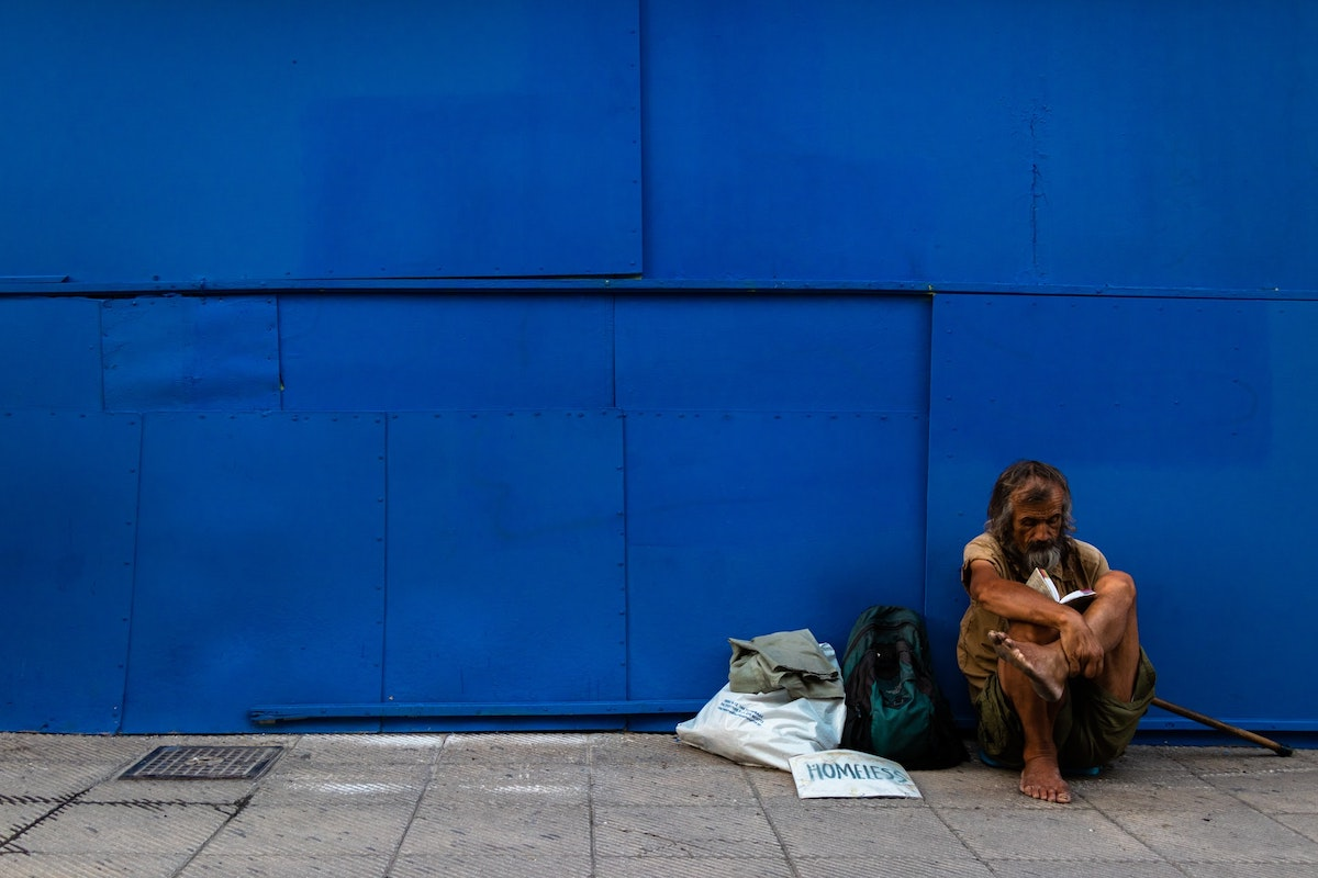 Obdachloser, homeless