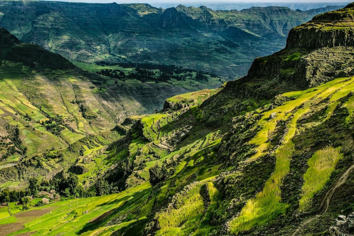 Äthiopien, Bäume, Berge