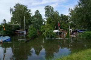 Hochwasser am Rhein 2021