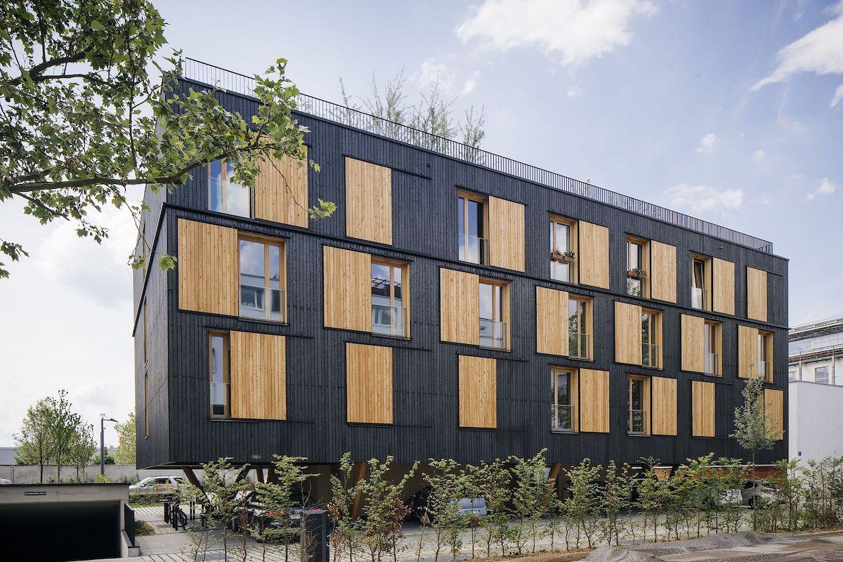 Mehrfamilienhaus aus Holz, Regensburg, Bayern