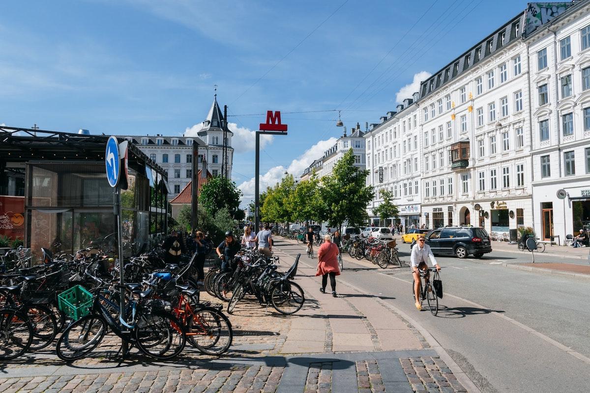 Straße in Kopenhagen, Dänemark