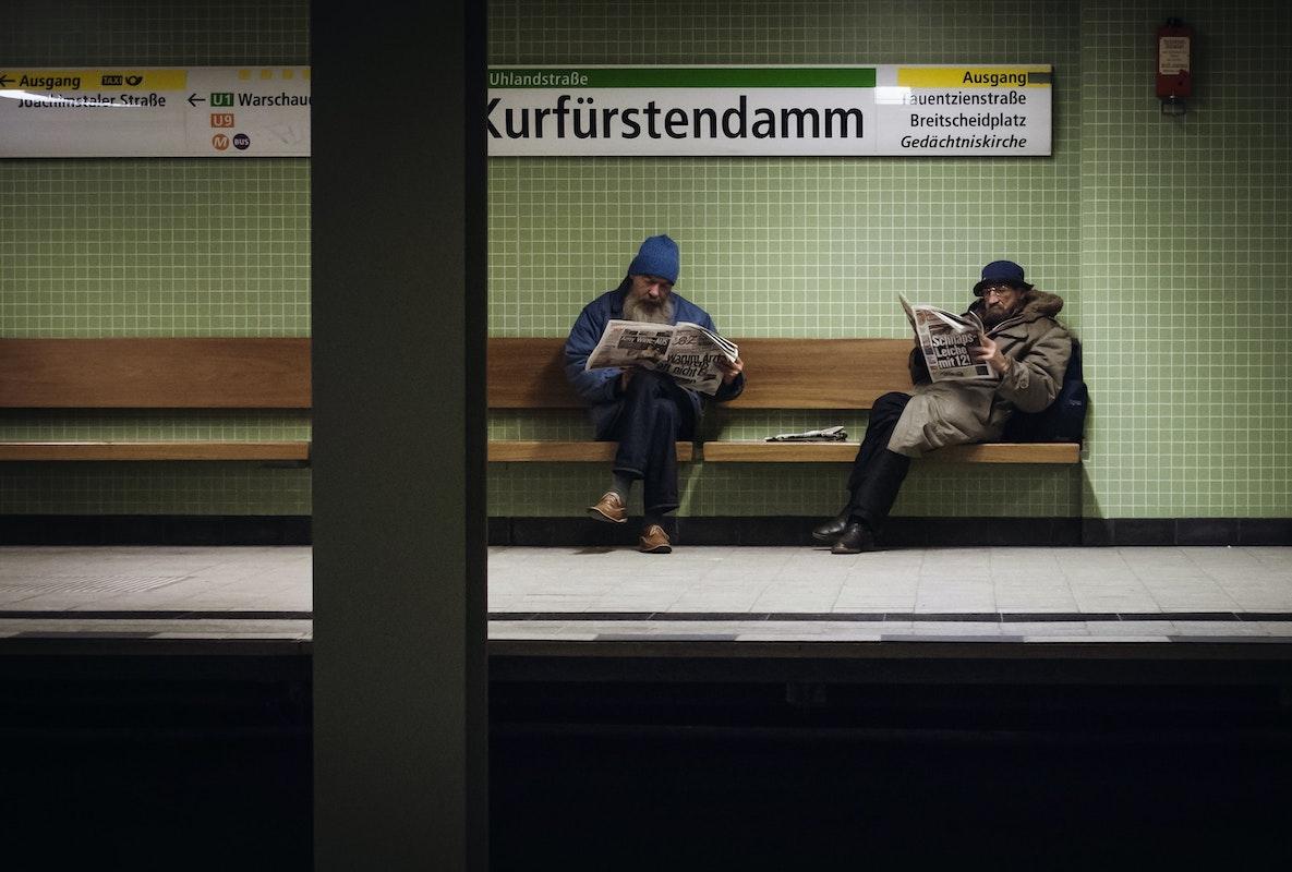 Berlin, Obdachlose, U-Bahn