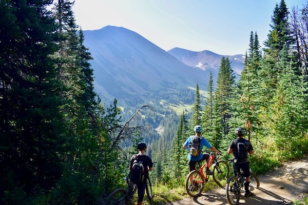 cycling, mountains, outdoor activity
